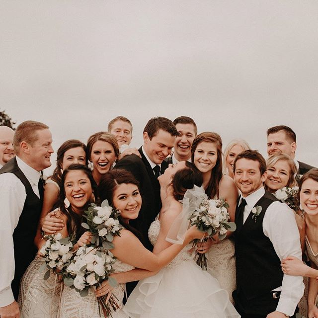 get you a crew that's just as excited as you when it comes to say I do --- heads up, I like my captions like weezy likes his pizza. extra cheesy.