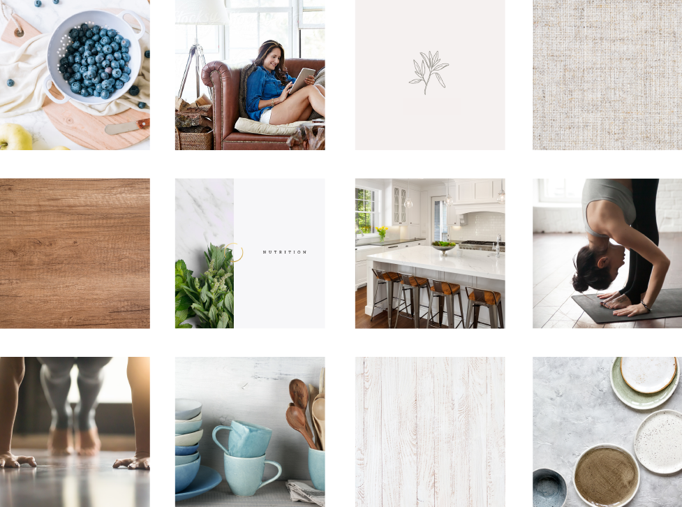 The Nourished Life Moodboard by Janessa Rae Design Creative