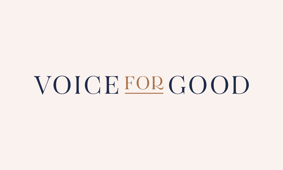 Voice for Good Logo by Janessa Rae Design Creative