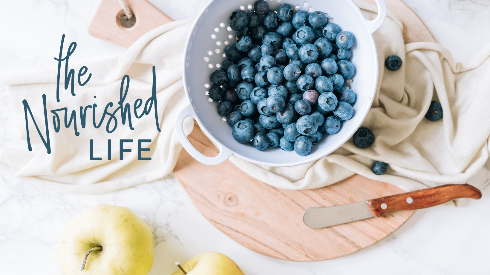 The Nourished Life E-course Facebook Group Cover Photo, designed by Janessa Rae Design Creative