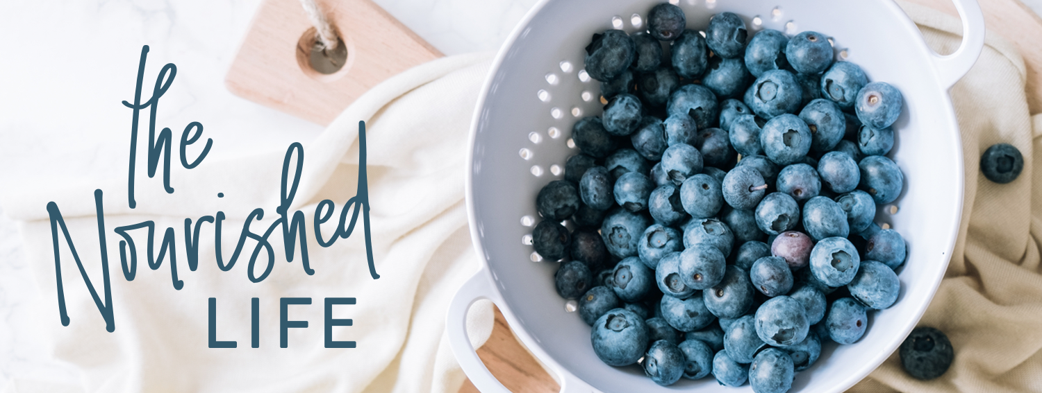 The Nourished Life e-course promo banner, designed by Janessa Rae Design Creative