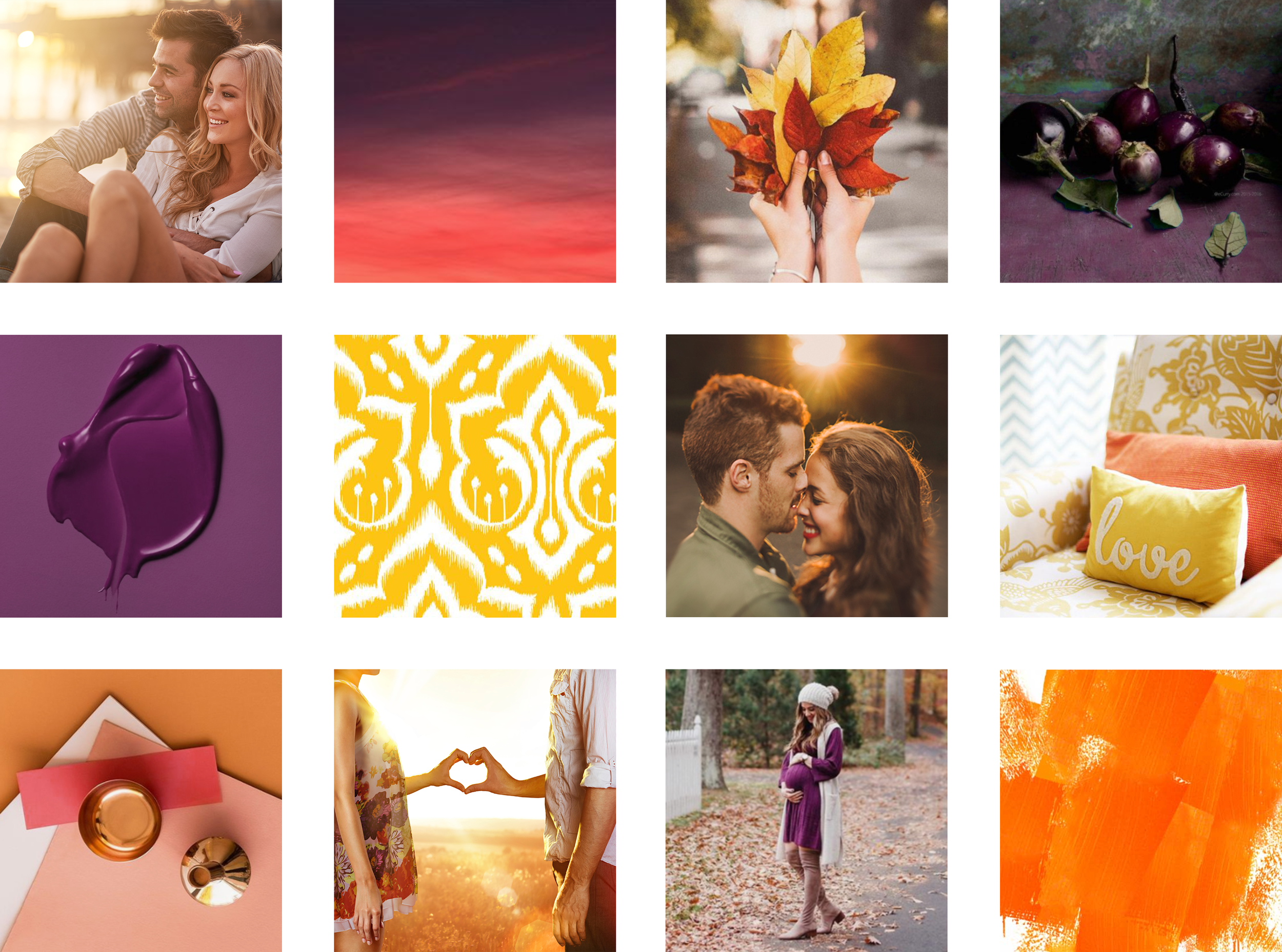 Moodboard for The Fertility Glow E-Course, by Janessa Rae Design Creative