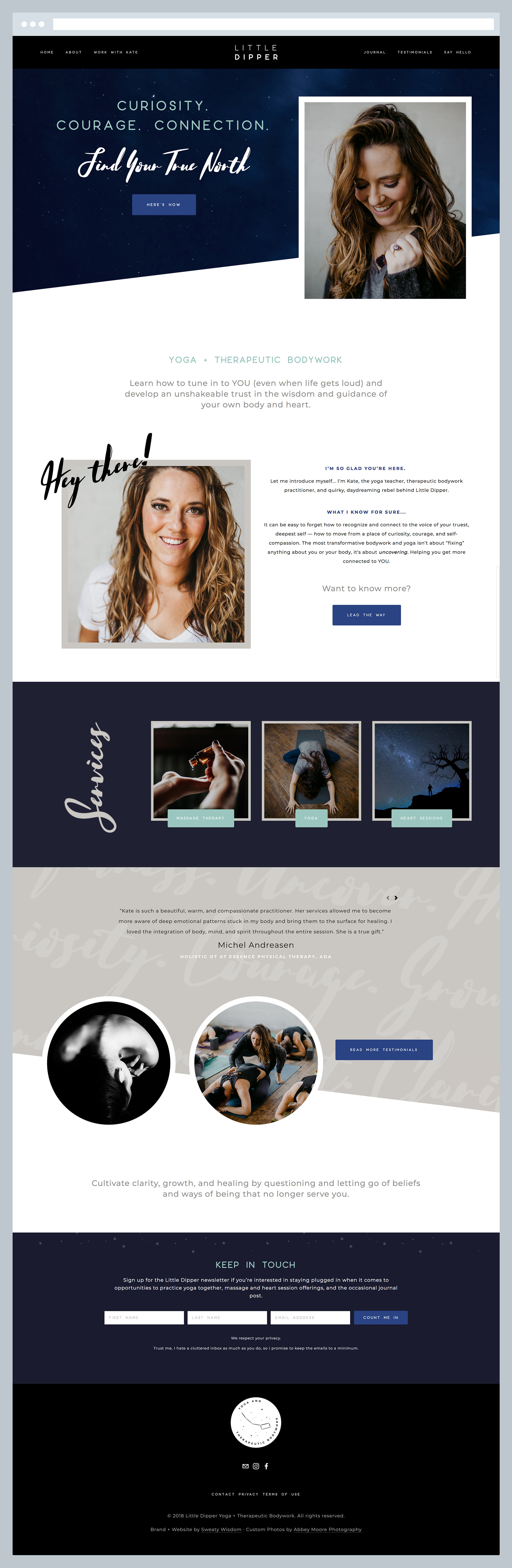 Litter Dipper - Home Page, by Janessa Rae Design Creative in collaboration with Sweaty Wisdom