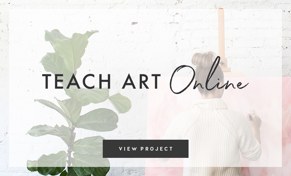 Teach Art Online - Design by Janessa Rae Design Creative