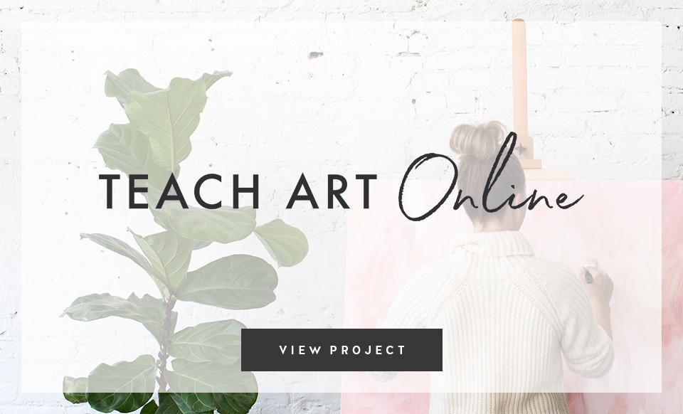 Teach Art Online - Design by Janessa Rae Design Creative