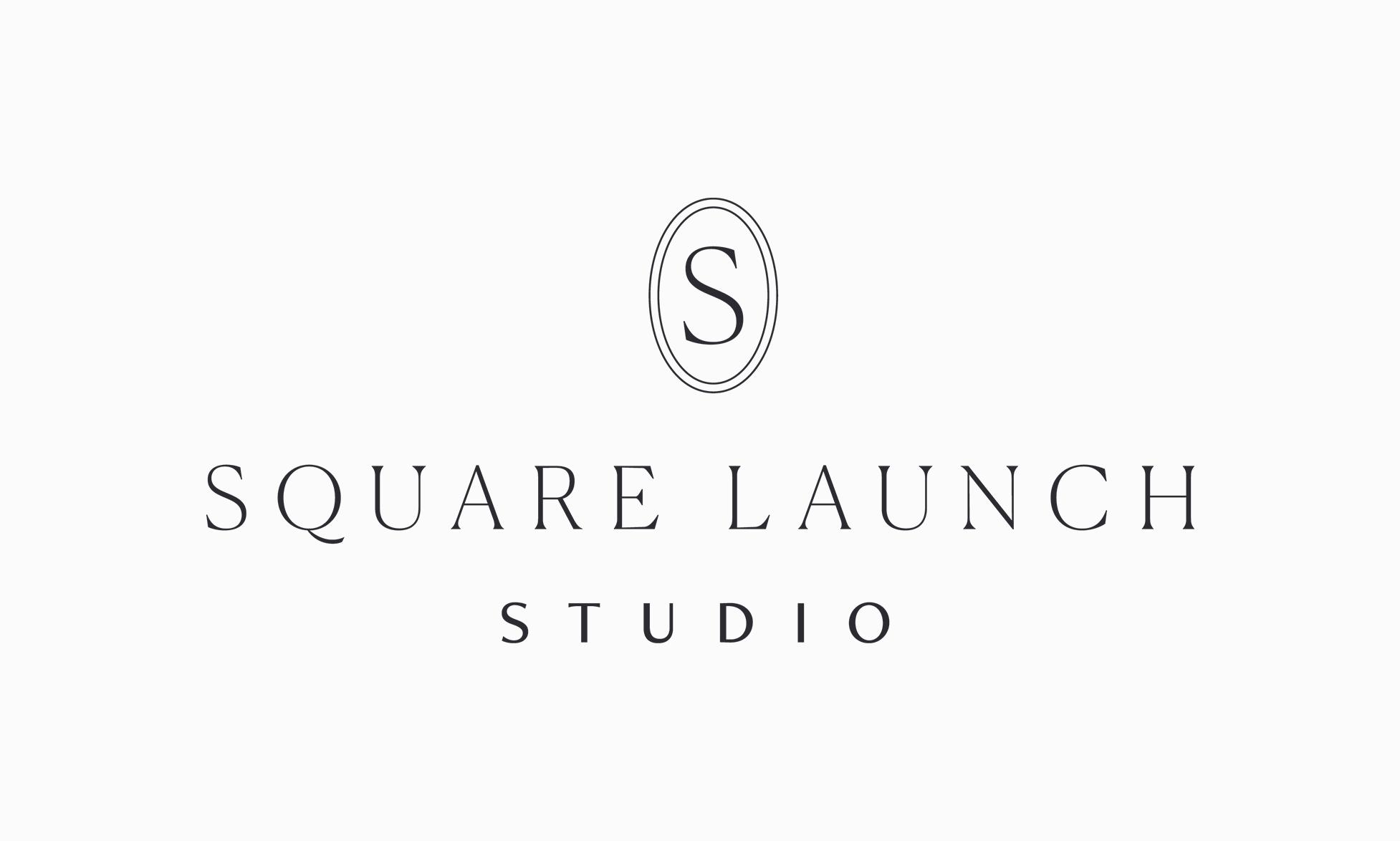 Square Launch Studio — Logo Design by Janessa Rae Design Creative