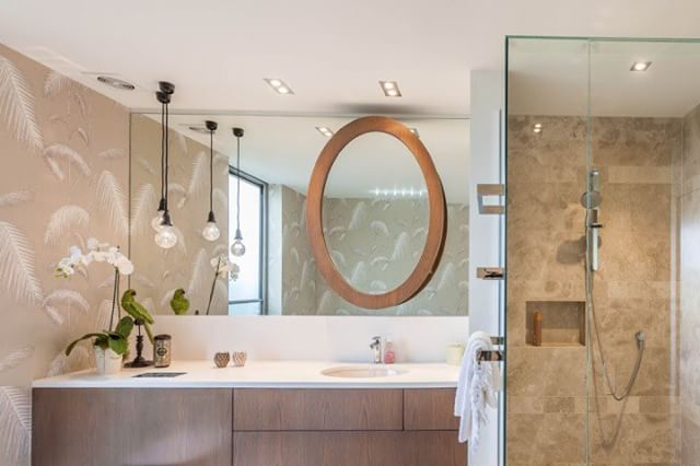 From the archive. A bathroom that's so good you just want to sit in the bath and stare at the walls.  Tx
