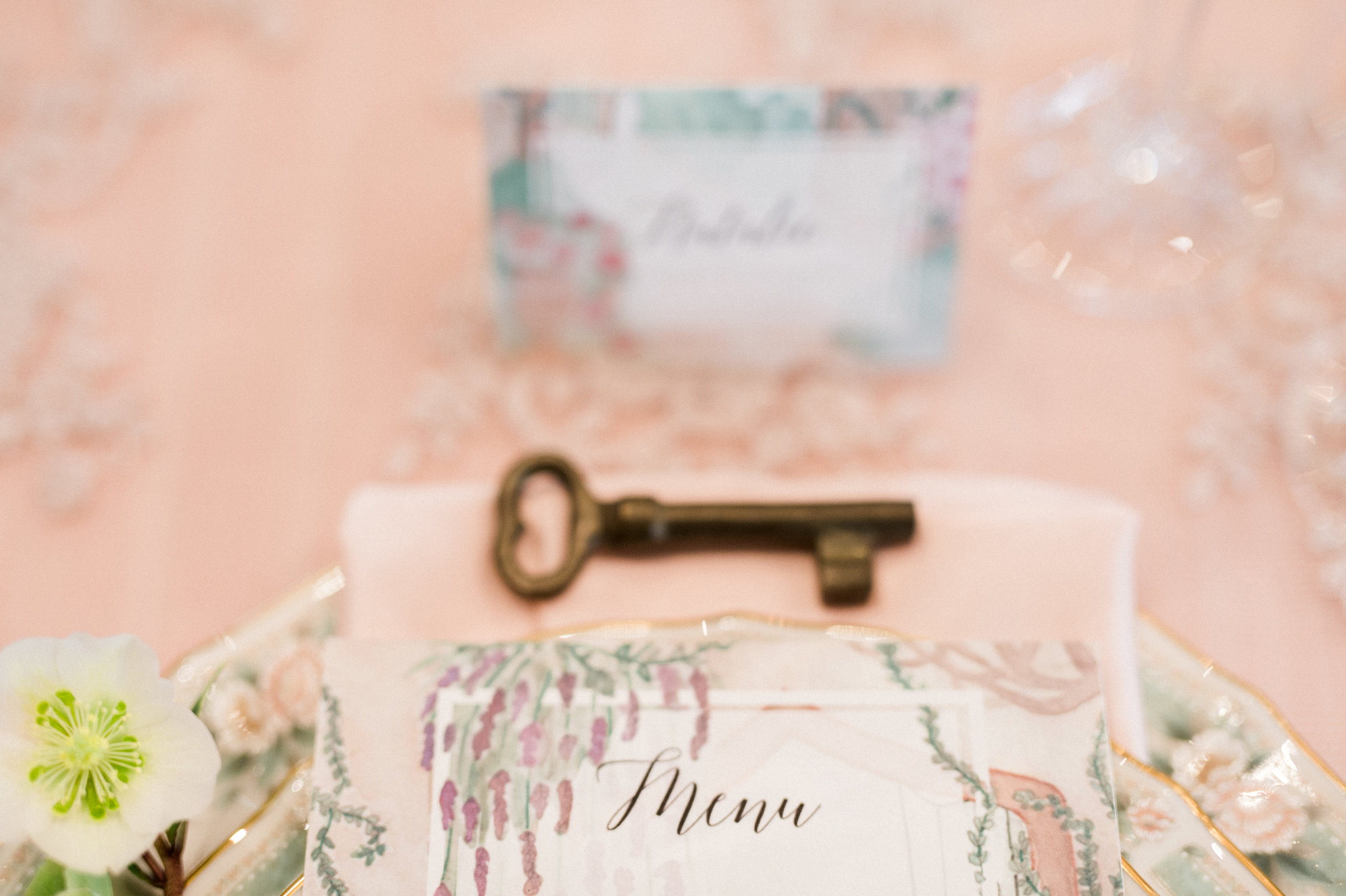 Watercolor Wedding Paper for Secret Garden  Wedding by Vie de Vic | Photo: Renee Hollingshead | viedevic.com