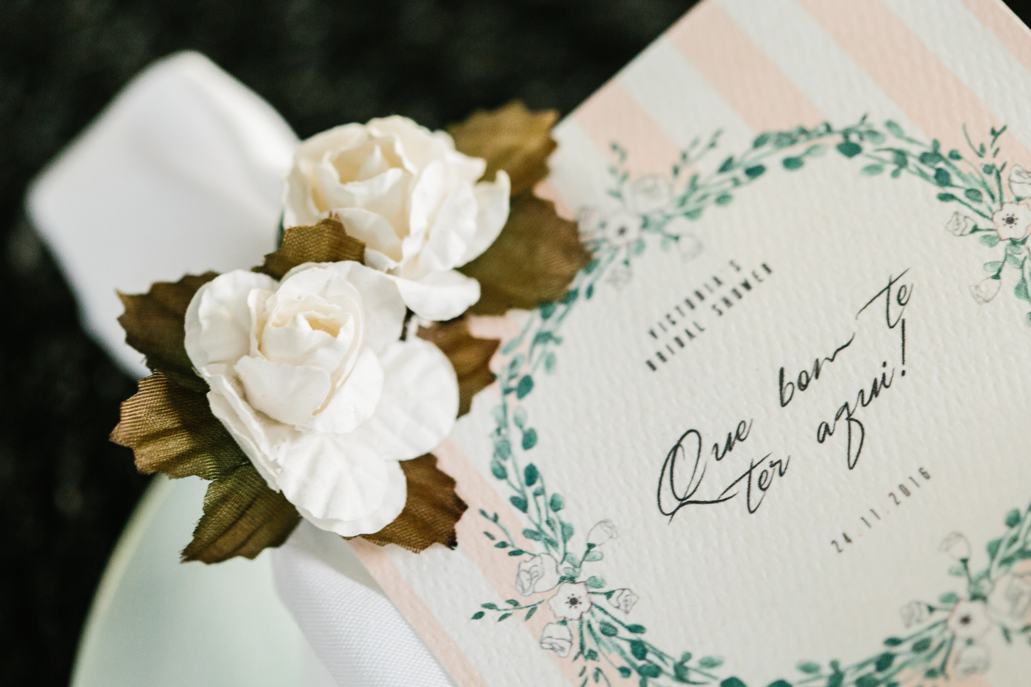 Rustic Chic Bridal Shower by Vie de Vic | Pink Watercolor Invitations | viedevic.com