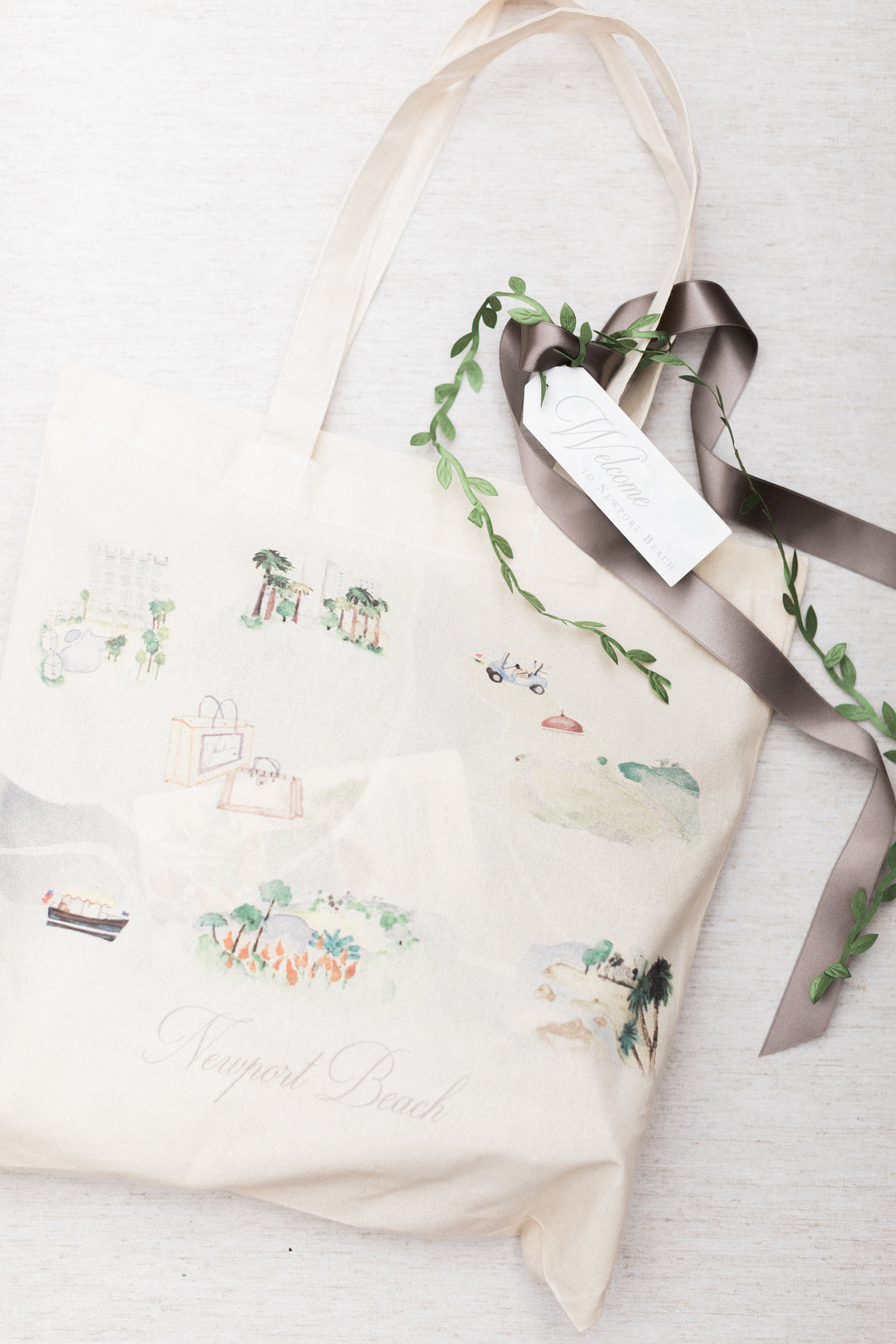 Illustrated Map Wedding Gift Bag by Vie de Vic Fine Illustration & Stationery | Photo: Brandon Kidd Photo