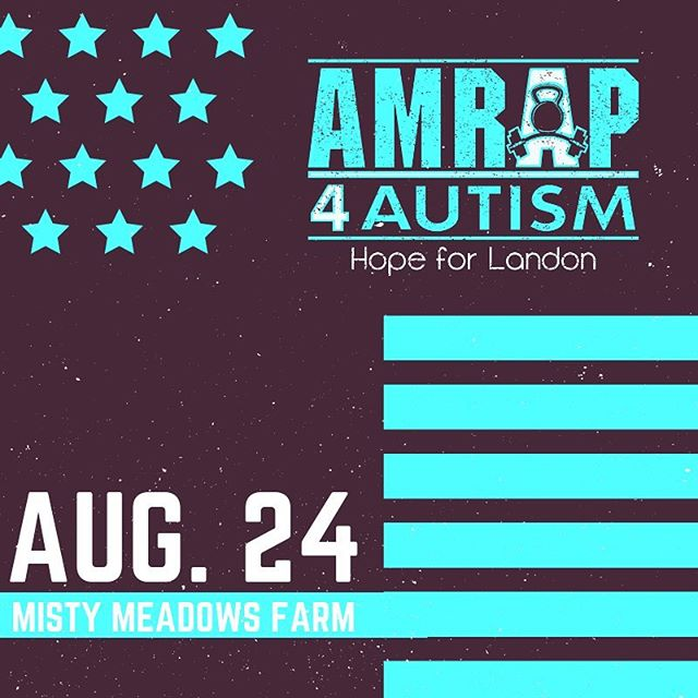 The date is set: Saturday, August 24 The venue is set: Misty Meadows Farm The time is set: 3:30-9:30pm . All we need is YOU. . Join us for our 6th Annual AMRAP 4 AUTISM Charity Workout benefitting @autismstrongfoundation . Pop over to our FB page for all the event details. . Registration opening soon! . . . #amrapworkout #amrap #amrap4autism #amrap4autism2019 #asf #autismstrong #cltfitlife #cltfitness #cltfit #crossfitters #crossfitevent #autismawareness #charlottefitness #cltevents #charityevent