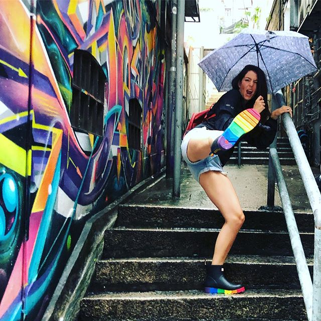 Rainy boots for rainy days 🥾 ☔️ 🏳️🌈
