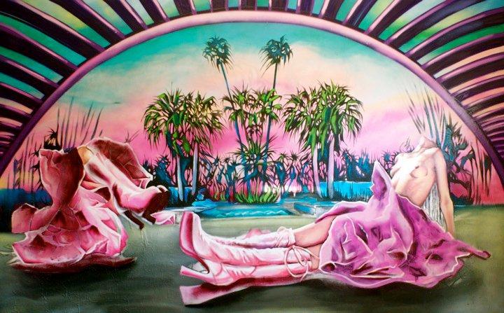 Bowing down at the lush, Leonine altar courtesy of emboldened street artist, Christina Angelina