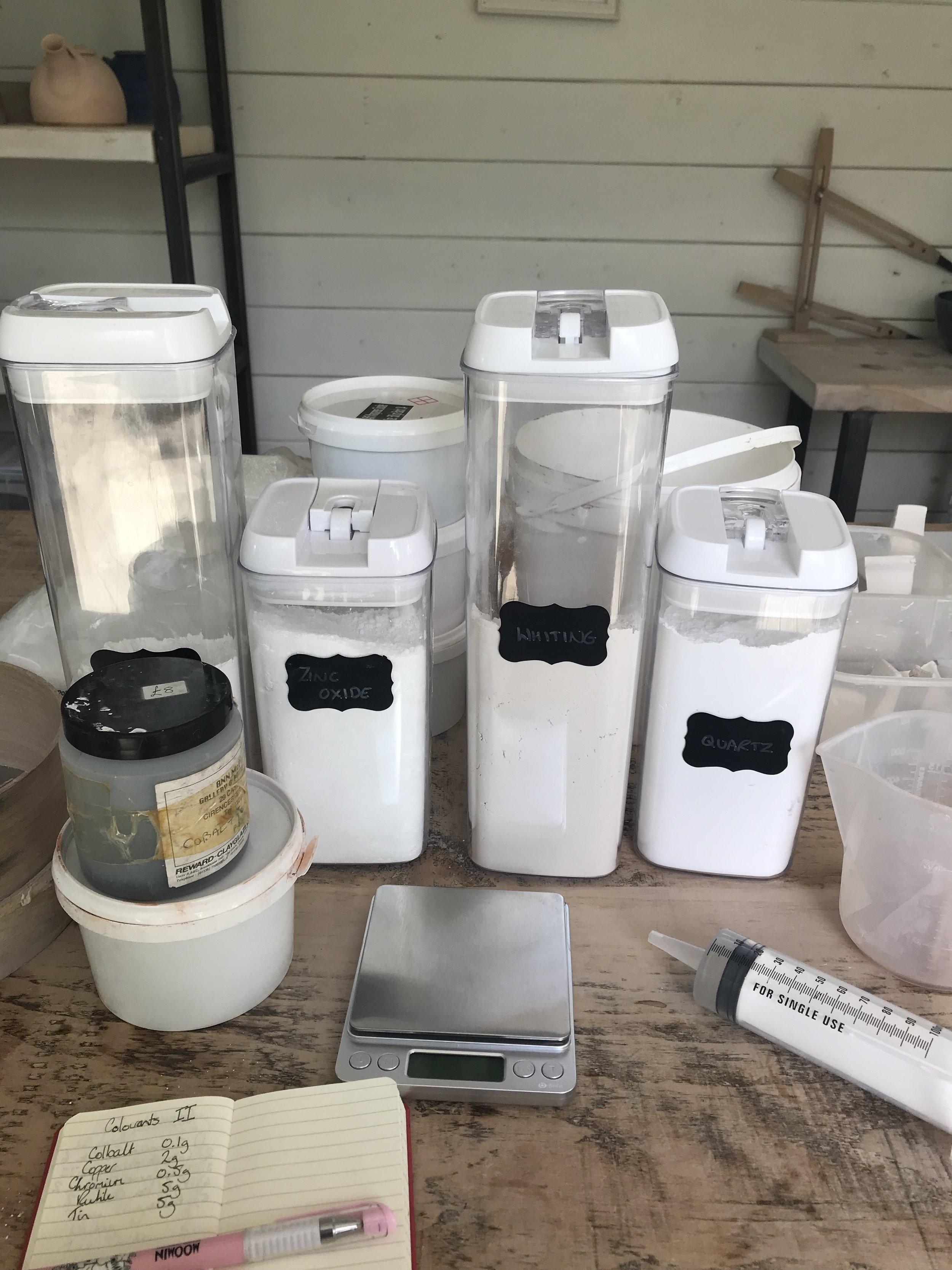 Glaze making equipment
