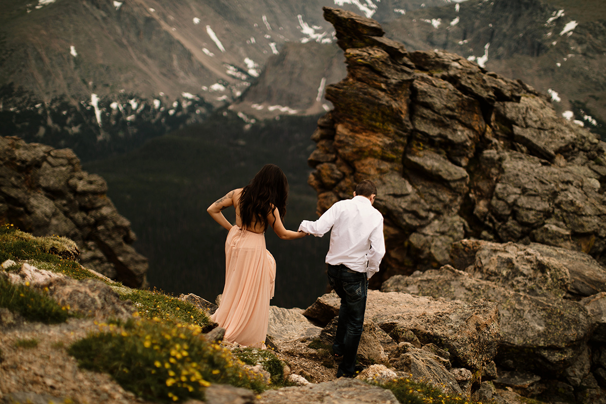 rocky mountain national park engagement couple wedding elopement session liz osban photography colorado wyoming mountains