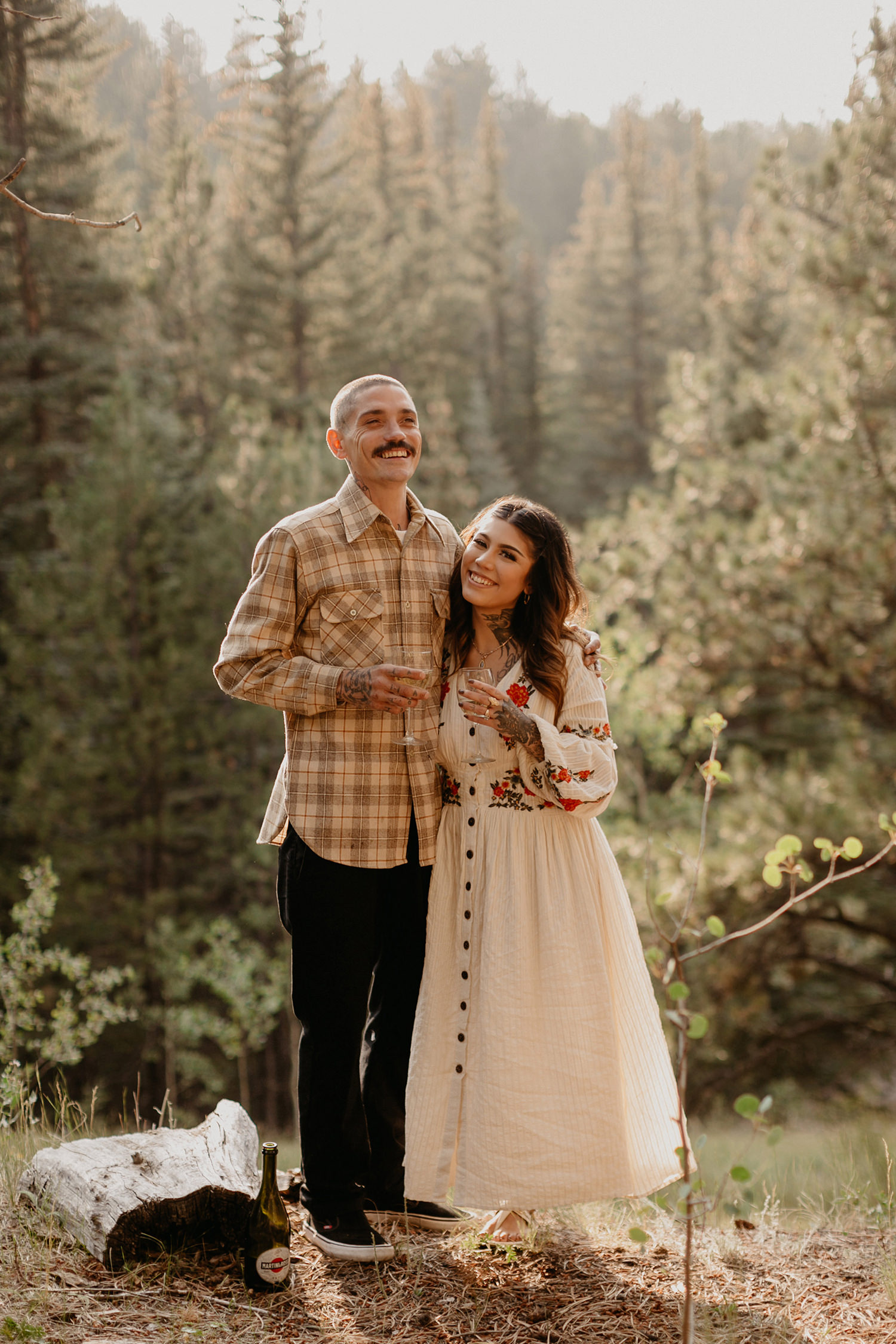 Bailey Colorado Denver Wedding Engagement Photographer Liz Osban Cheyenne Wyoming Mountain Elopement Boho bohemian vintage film tattoo non traditional tattooed rock and roll 3.jpg