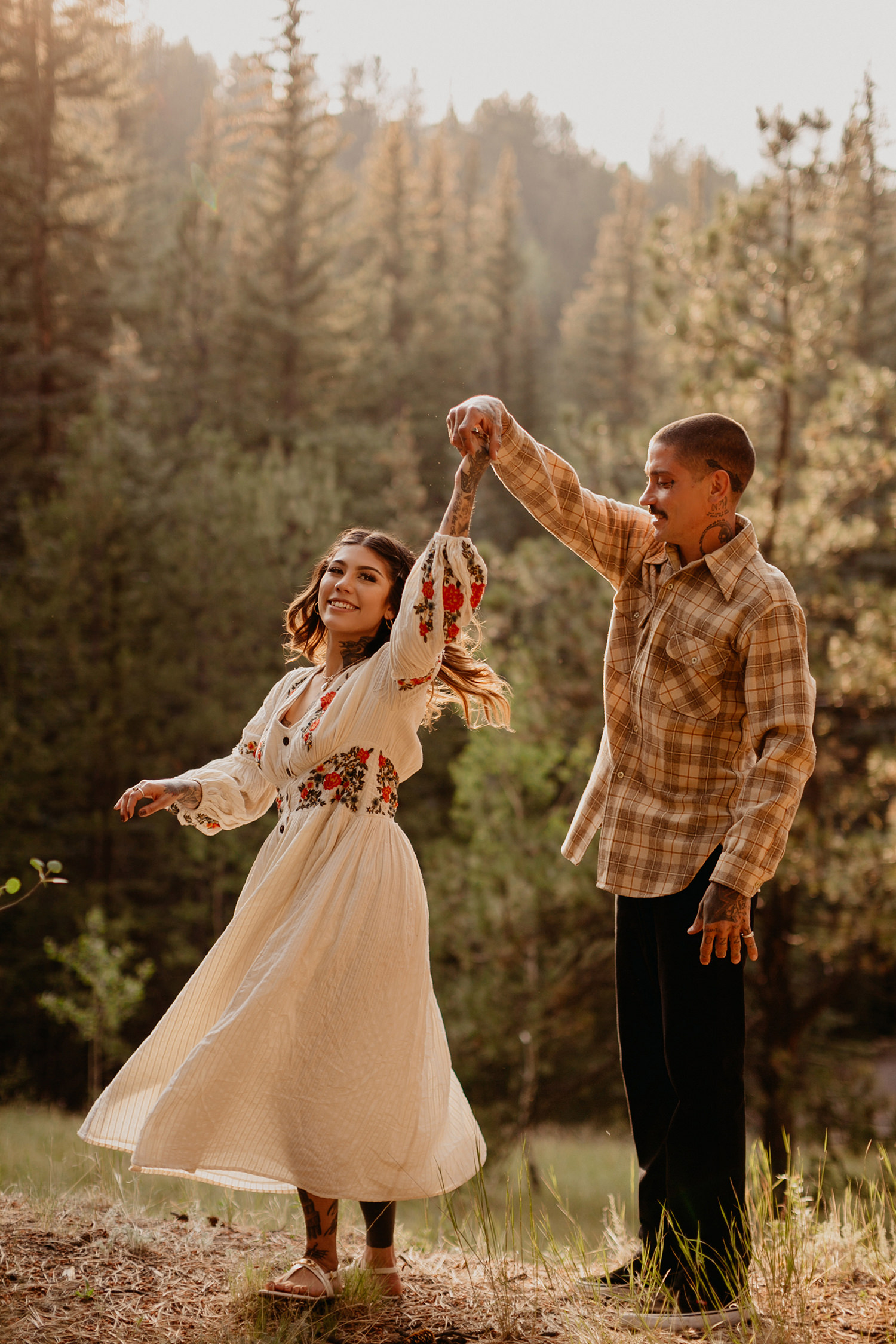 Bailey Colorado Denver Wedding Engagement Photographer Liz Osban Cheyenne Wyoming Mountain Elopement Boho bohemian vintage film tattoo non traditional tattooed rock and roll 10.jpg