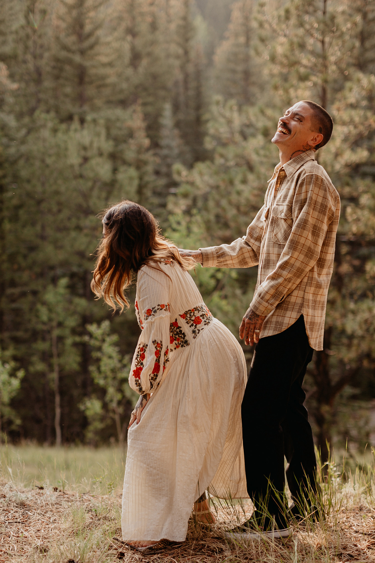 Bailey Colorado Denver Wedding Engagement Photographer Liz Osban Cheyenne Wyoming Mountain Elopement Boho bohemian vintage film tattoo non traditional tattooed rock and roll 12.jpg