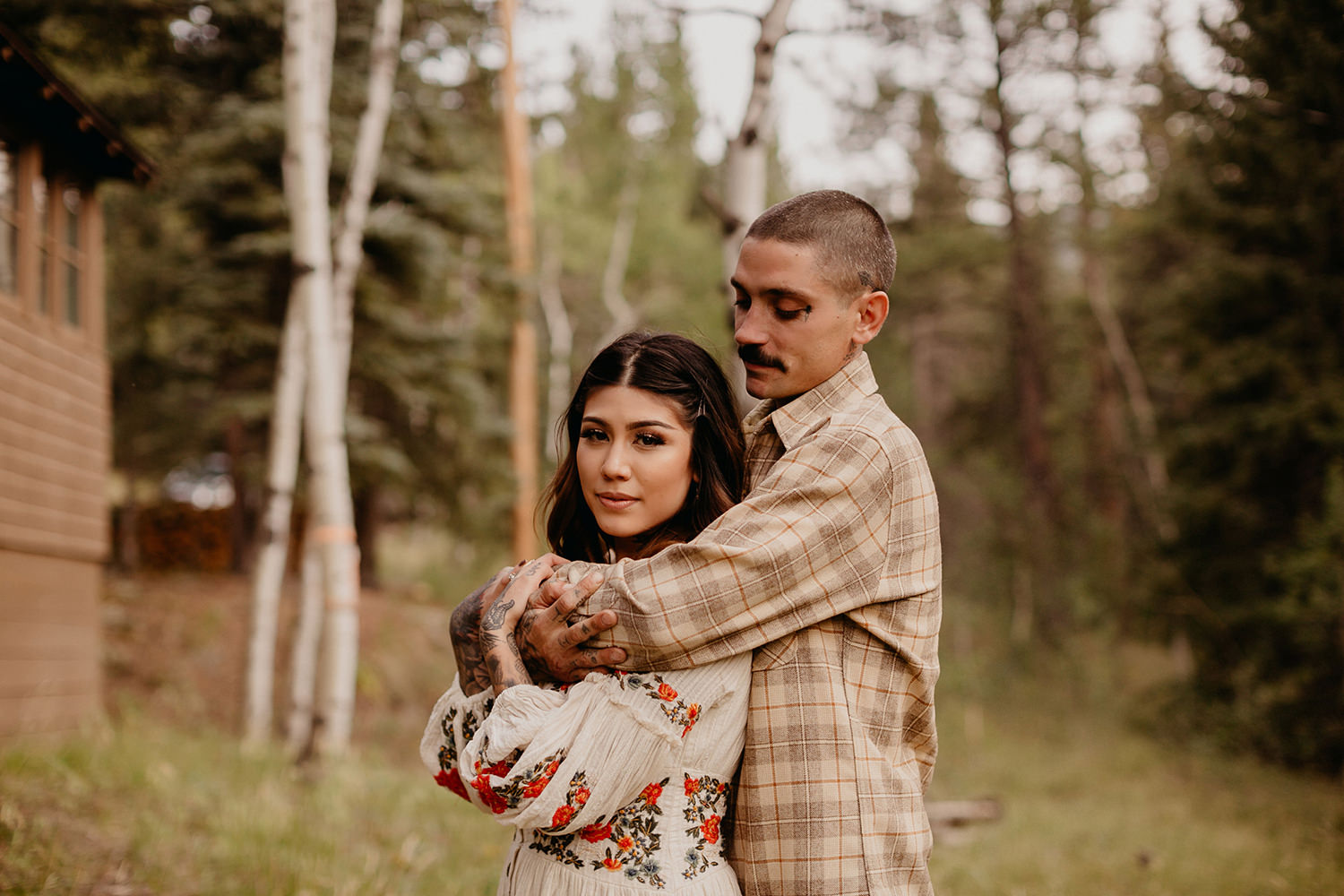 Bailey Colorado Denver Wedding Engagement Photographer Liz Osban Cheyenne Wyoming Mountain Elopement Boho bohemian vintage film tattoo non traditional tattooed rock and roll 14.jpg