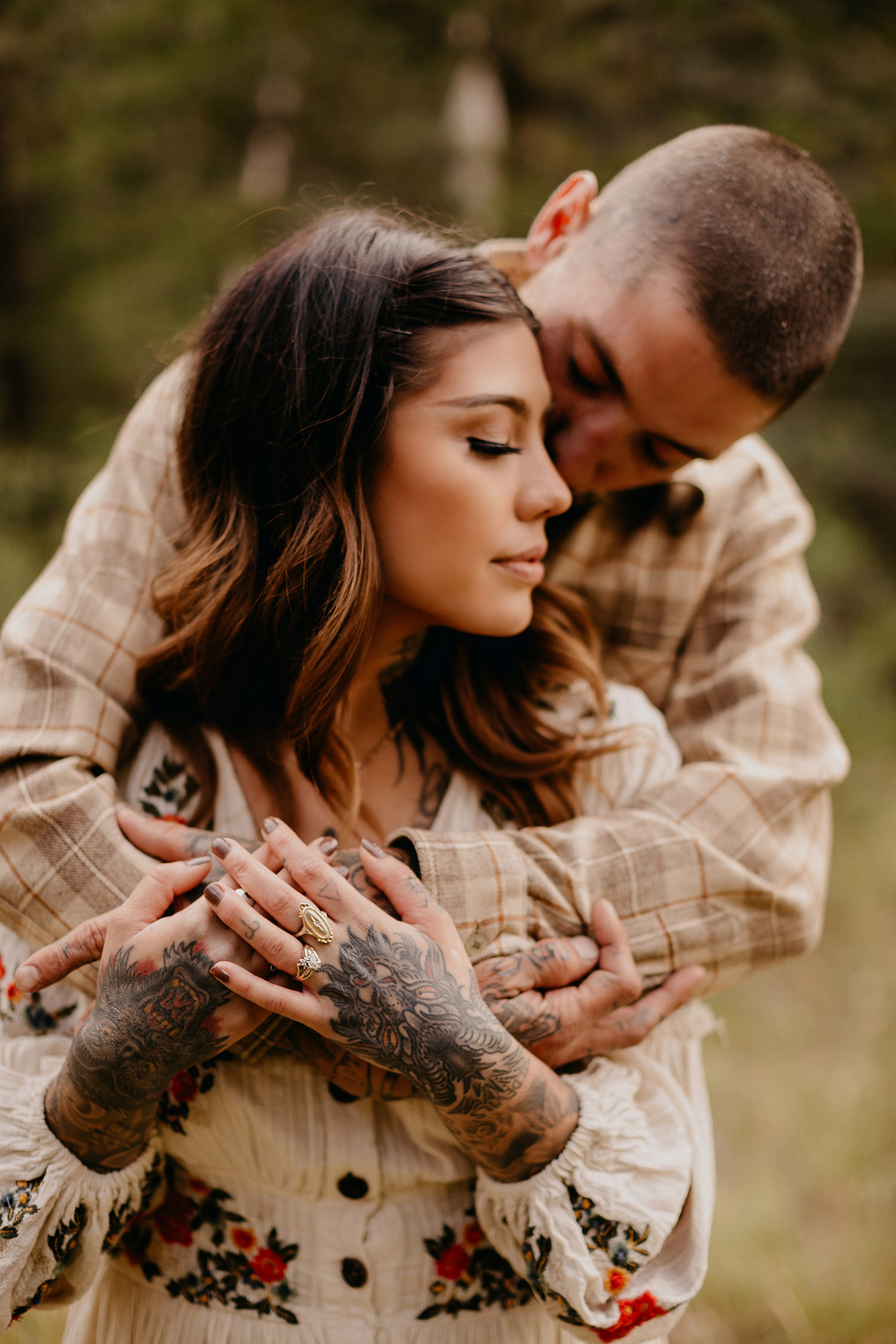 Bailey Colorado Denver Wedding Engagement Photographer Liz Osban Cheyenne Wyoming Mountain Elopement Boho bohemian vintage film tattoo non traditional tattooed rock and roll 17.jpg