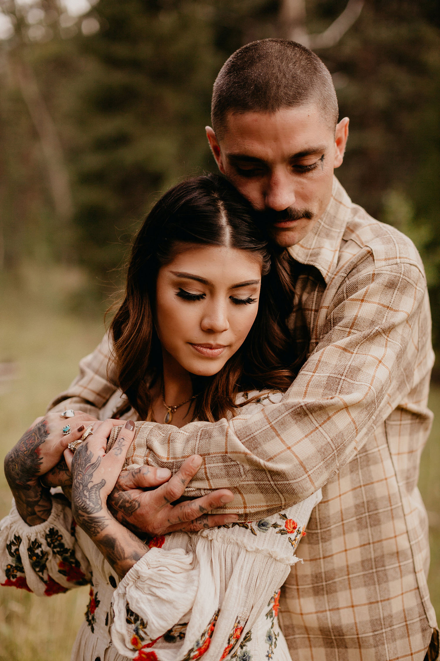 Bailey Colorado Denver Wedding Engagement Photographer Liz Osban Cheyenne Wyoming Mountain Elopement Boho bohemian vintage film tattoo non traditional tattooed rock and roll 15.jpg