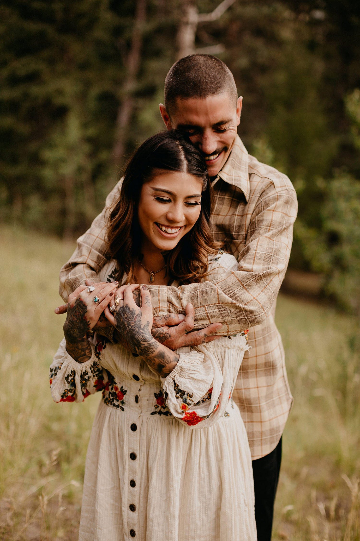 Bailey Colorado Denver Wedding Engagement Photographer Liz Osban Cheyenne Wyoming Mountain Elopement Boho bohemian vintage film tattoo non traditional tattooed rock and roll 16.jpg