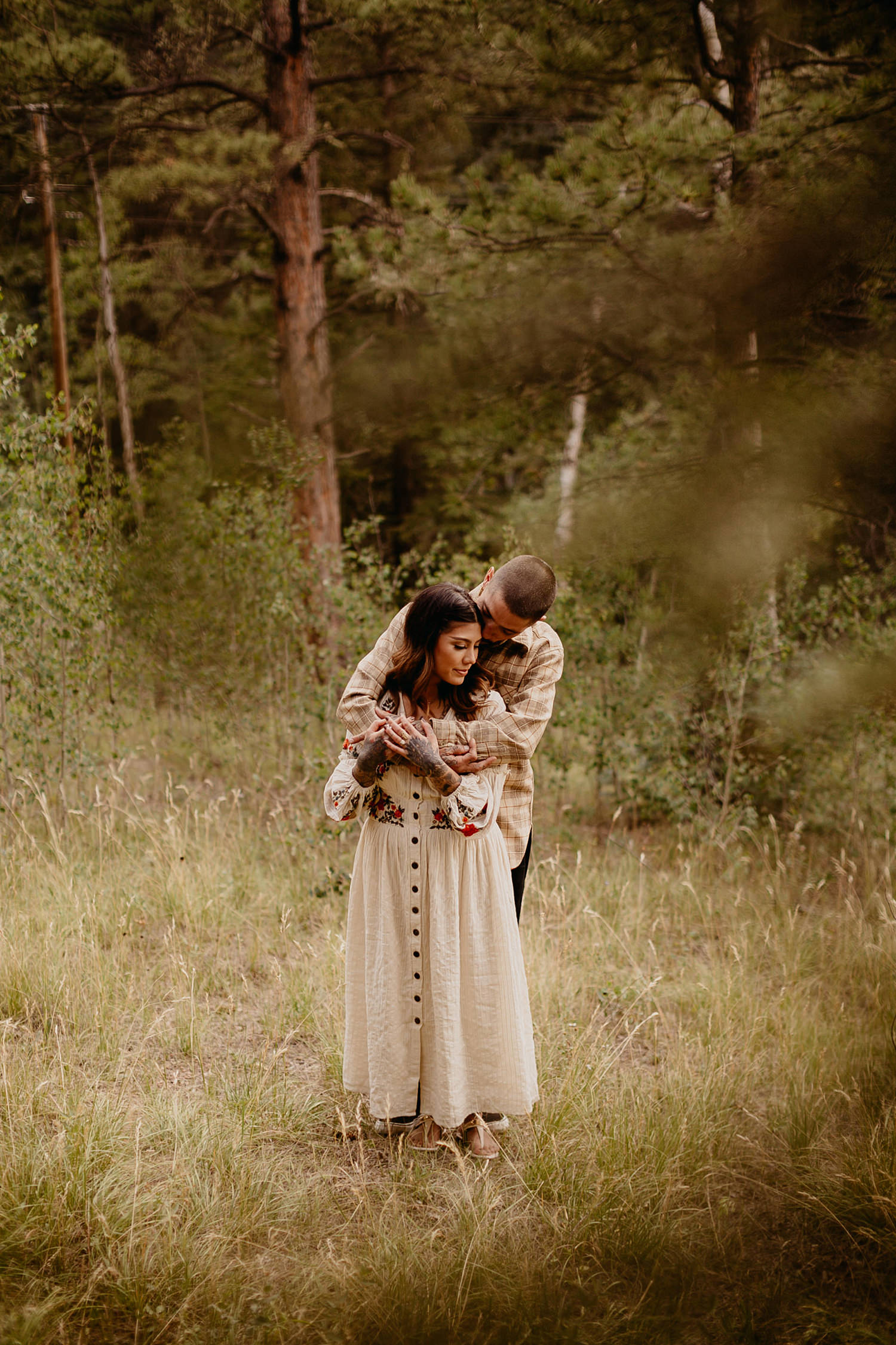 Bailey Colorado Denver Wedding Engagement Photographer Liz Osban Cheyenne Wyoming Mountain Elopement Boho bohemian vintage film tattoo non traditional tattooed rock and roll 18.jpg