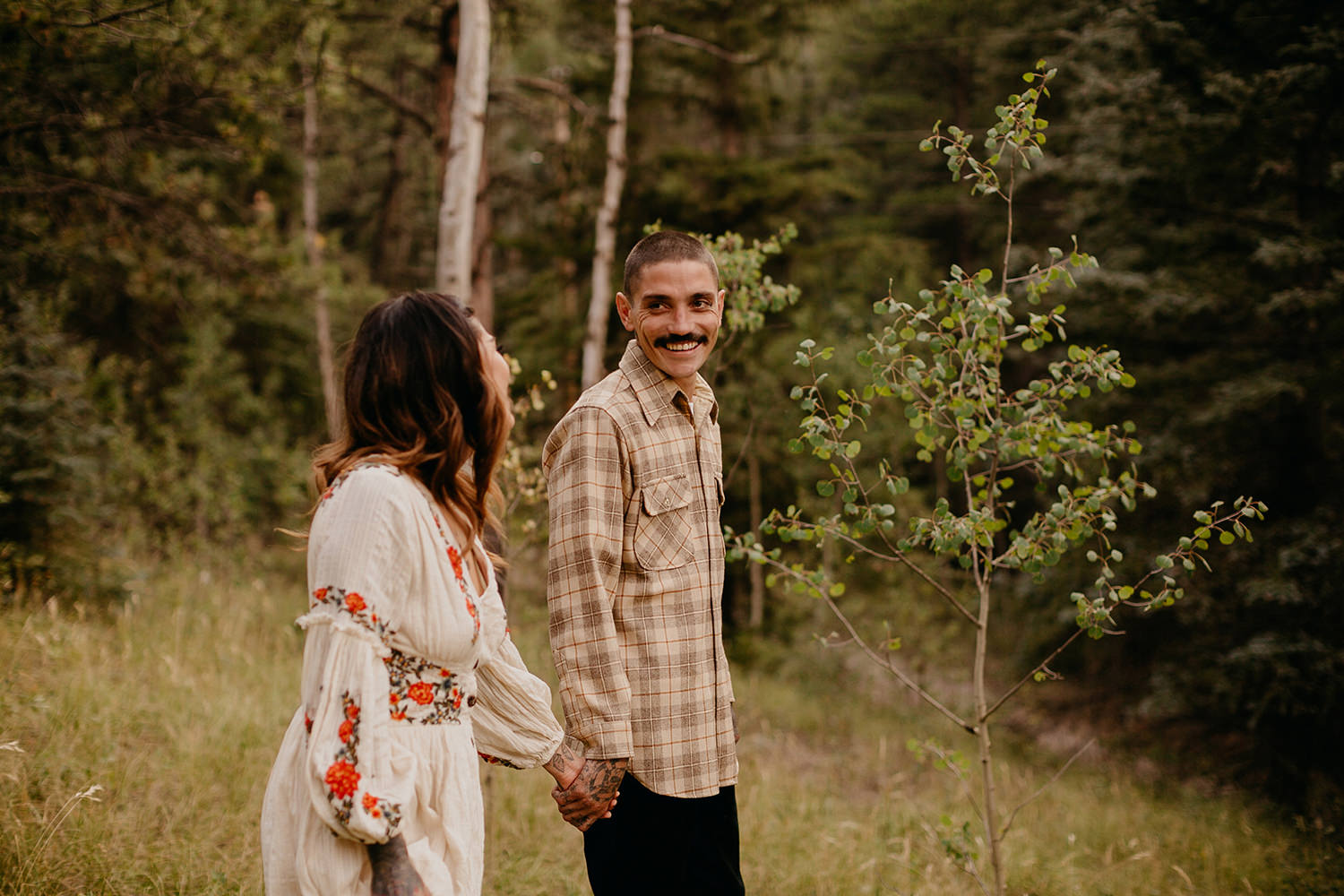 Bailey Colorado Denver Wedding Engagement Photographer Liz Osban Cheyenne Wyoming Mountain Elopement Boho bohemian vintage film tattoo non traditional tattooed rock and roll 19.jpg