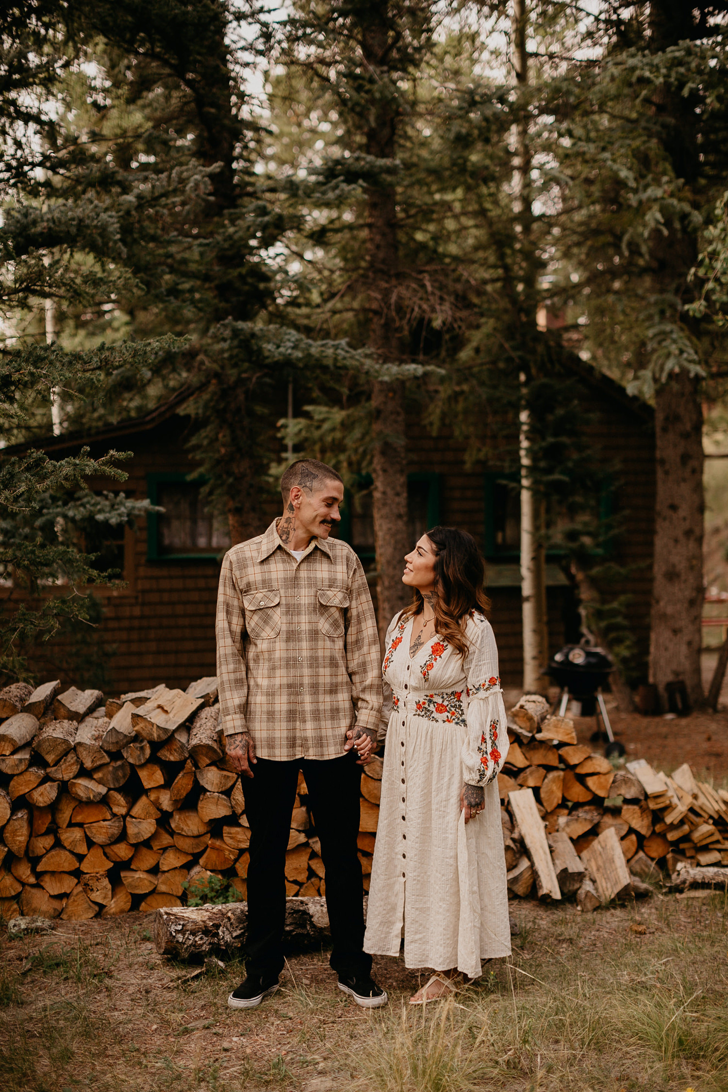 Bailey Colorado Denver Wedding Engagement Photographer Liz Osban Cheyenne Wyoming Mountain Elopement Boho bohemian vintage film tattoo non traditional tattooed rock and roll 21.jpg