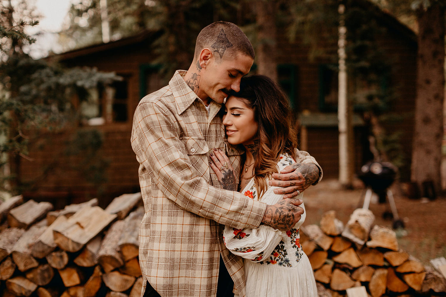 Bailey Colorado Denver Wedding Engagement Photographer Liz Osban Cheyenne Wyoming Mountain Elopement Boho bohemian vintage film tattoo non traditional tattooed rock and roll 24.jpg