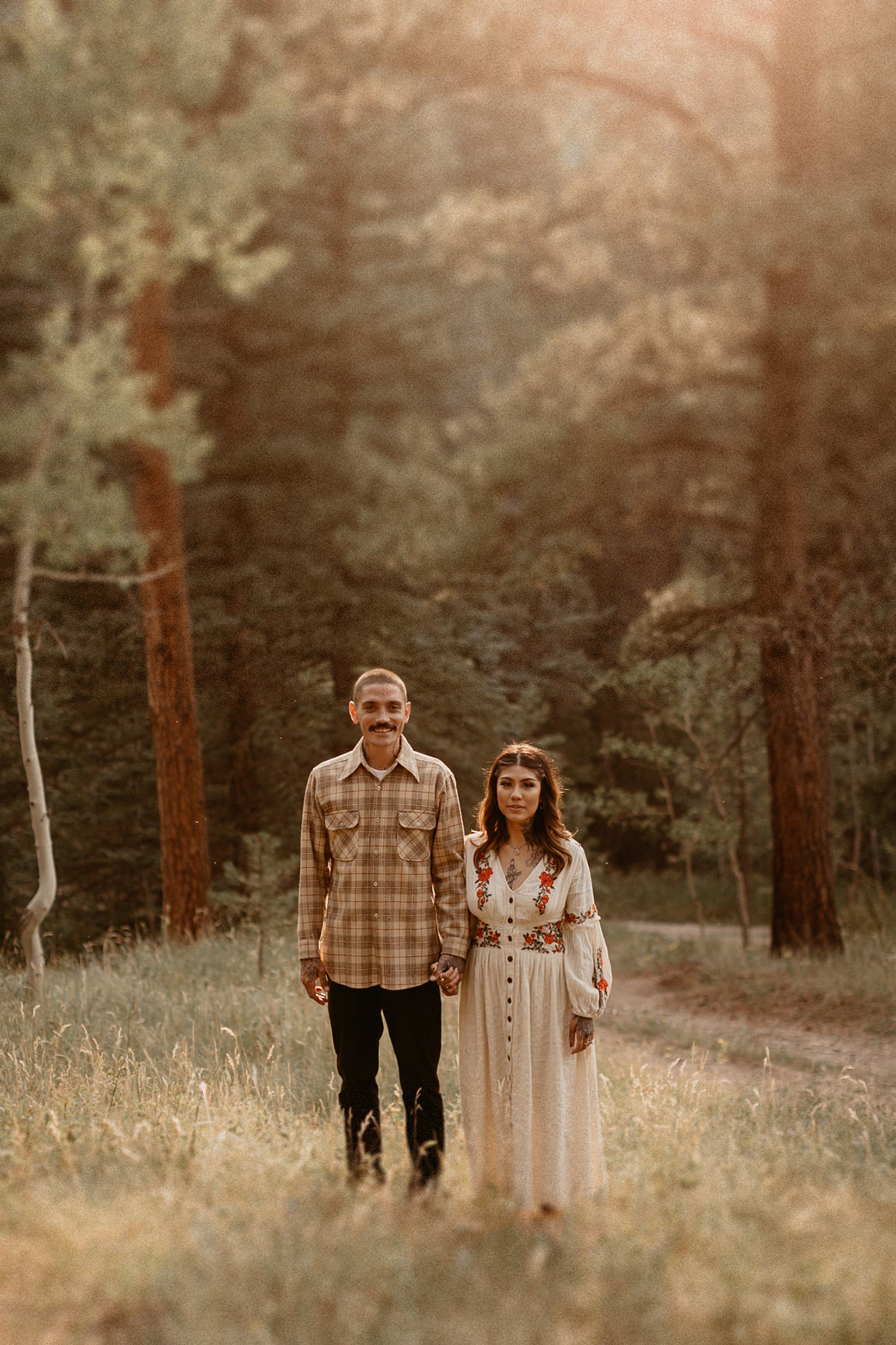 Bailey Colorado Denver Wedding Engagement Photographer Liz Osban Cheyenne Wyoming Mountain Elopement Boho bohemian vintage film tattoo non traditional tattooed rock and roll 25.jpg