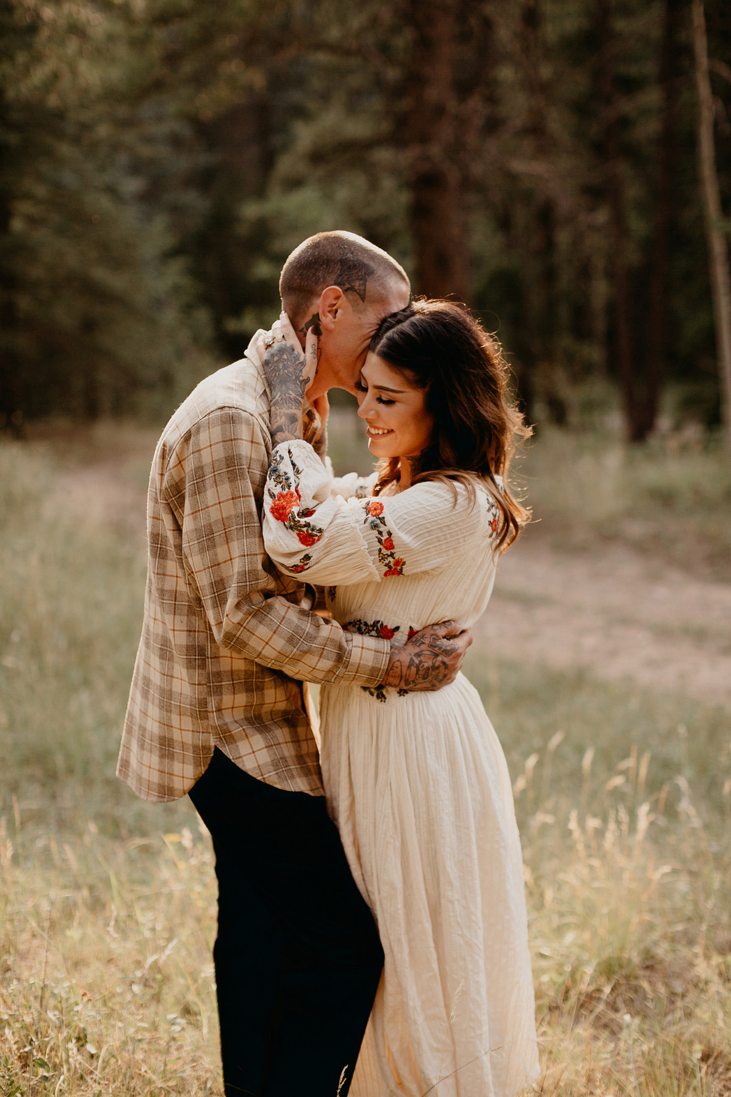 Bailey Colorado Denver Wedding Engagement Photographer Liz Osban Cheyenne Wyoming Mountain Elopement Boho bohemian vintage film tattoo non traditional tattooed rock and roll 29.jpg