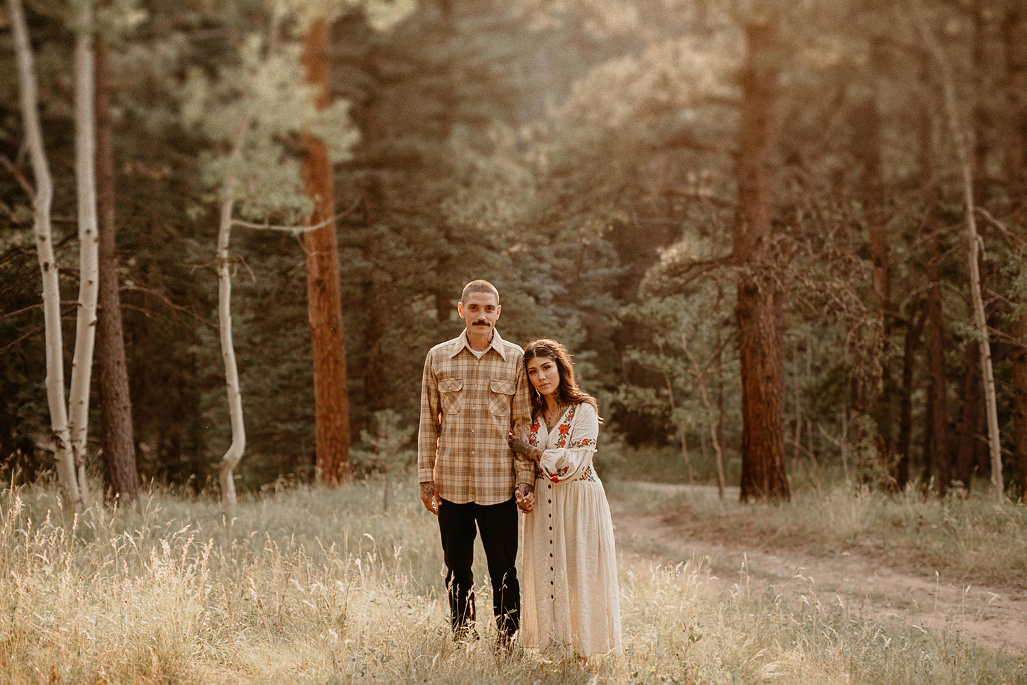 Bailey Colorado Denver Wedding Engagement Photographer Liz Osban Cheyenne Wyoming Mountain Elopement Boho bohemian vintage film tattoo non traditional tattooed rock and roll 26.jpg