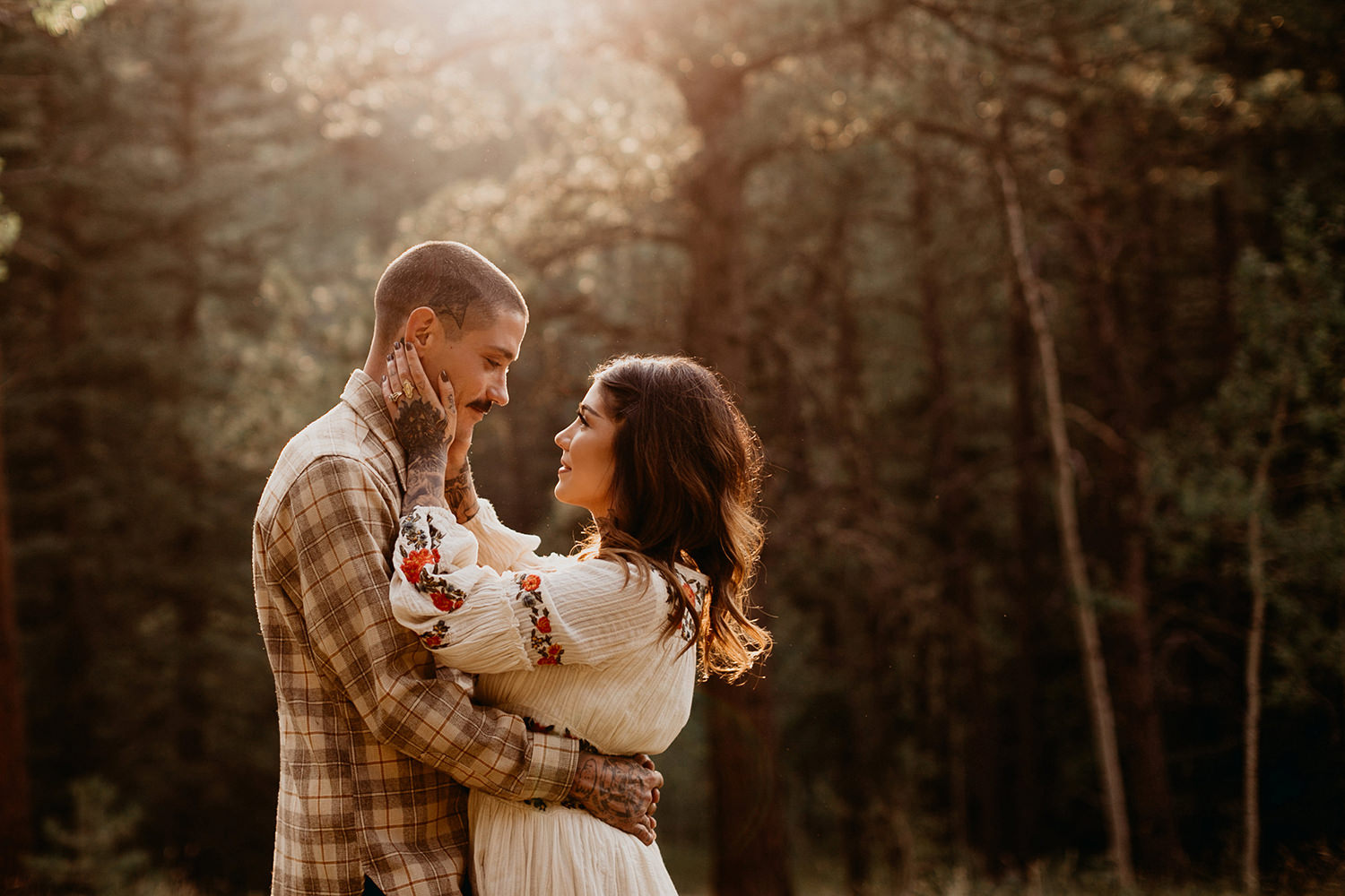 Bailey Colorado Denver Wedding Engagement Photographer Liz Osban Cheyenne Wyoming Mountain Elopement Boho bohemian vintage film tattoo non traditional tattooed rock and roll 27.jpg