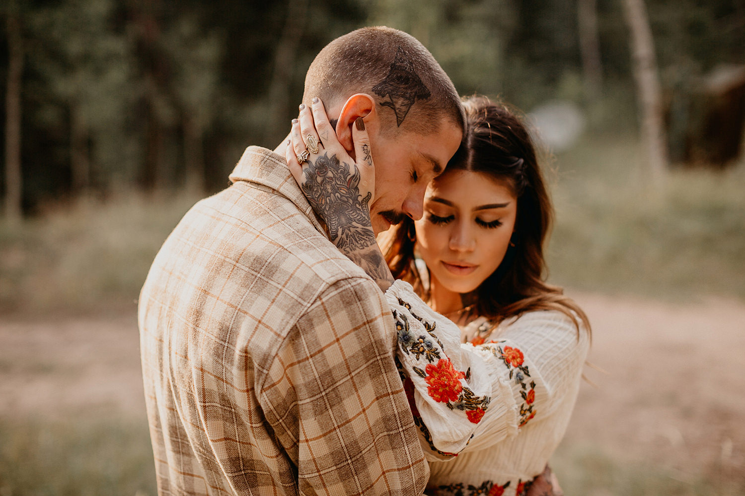Bailey Colorado Denver Wedding Engagement Photographer Liz Osban Cheyenne Wyoming Mountain Elopement Boho bohemian vintage film tattoo non traditional tattooed rock and roll 28.jpg