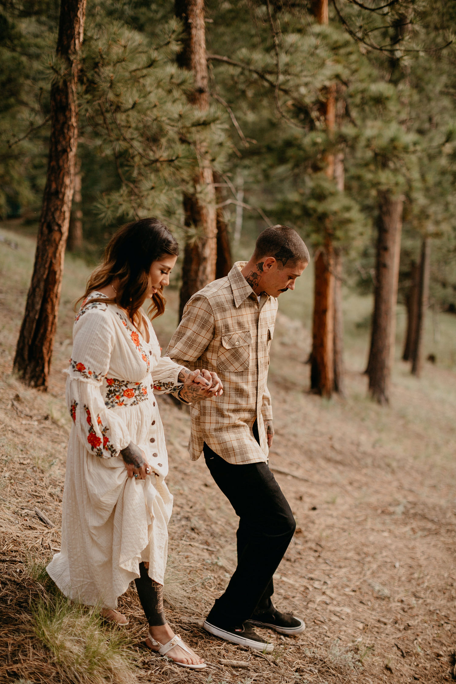 Bailey Colorado Denver Wedding Engagement Photographer Liz Osban Cheyenne Wyoming Mountain Elopement Boho bohemian vintage film tattoo non traditional tattooed rock and roll 30.jpg