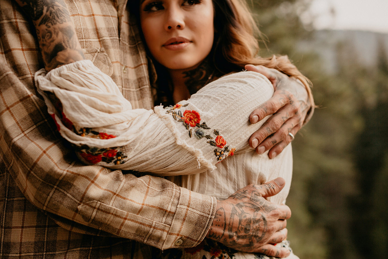 Bailey Colorado Denver Wedding Engagement Photographer Liz Osban Cheyenne Wyoming Mountain Elopement Boho bohemian vintage film tattoo non traditional tattooed rock and roll 32.jpg