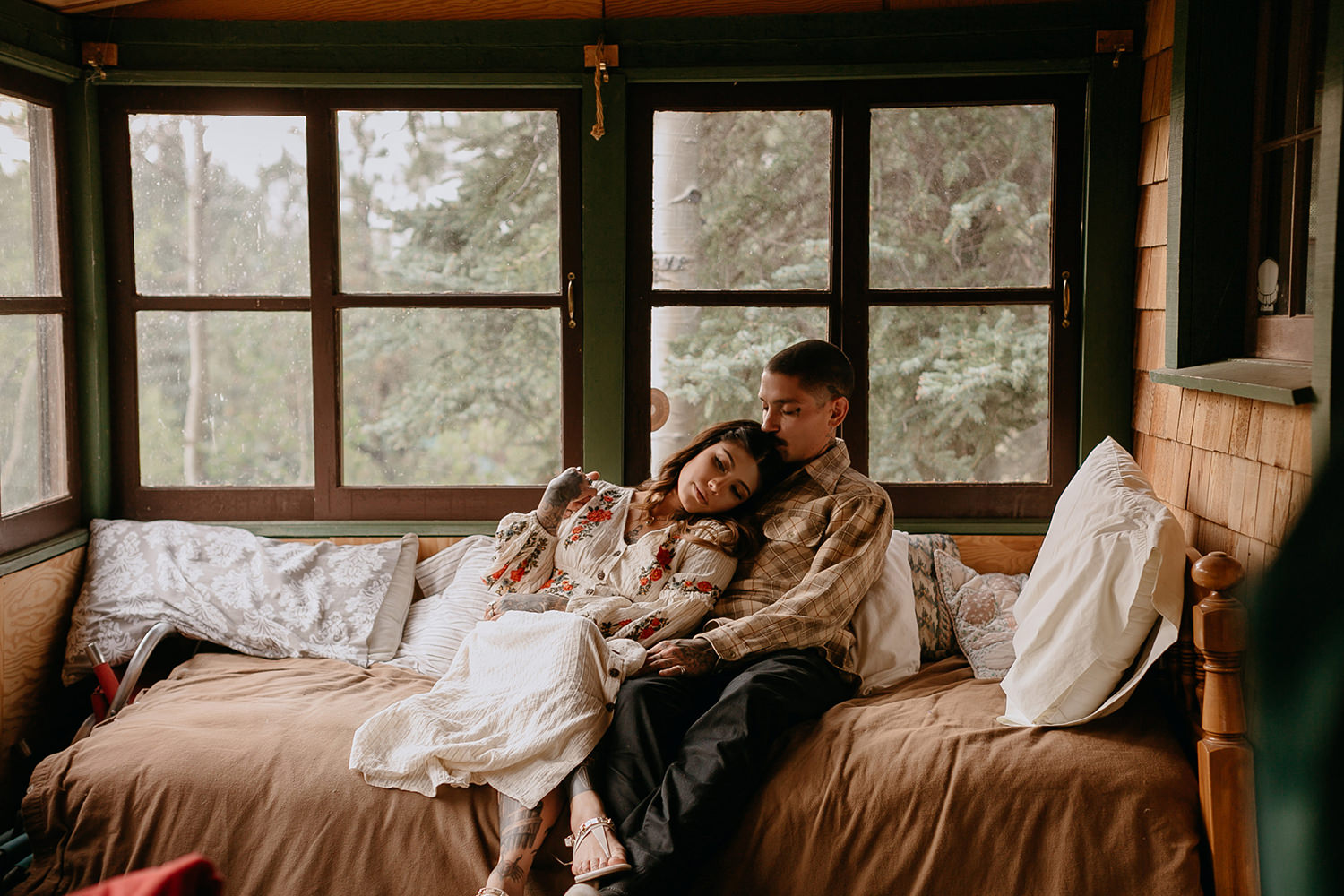 Bailey Colorado Denver Wedding Engagement Photographer Liz Osban Cheyenne Wyoming Mountain Elopement Boho bohemian vintage film tattoo non traditional tattooed rock and roll 36.jpg