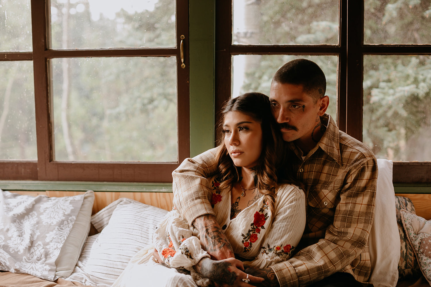 Bailey Colorado Denver Wedding Engagement Photographer Liz Osban Cheyenne Wyoming Mountain Elopement Boho bohemian vintage film tattoo non traditional tattooed rock and roll 37.jpg