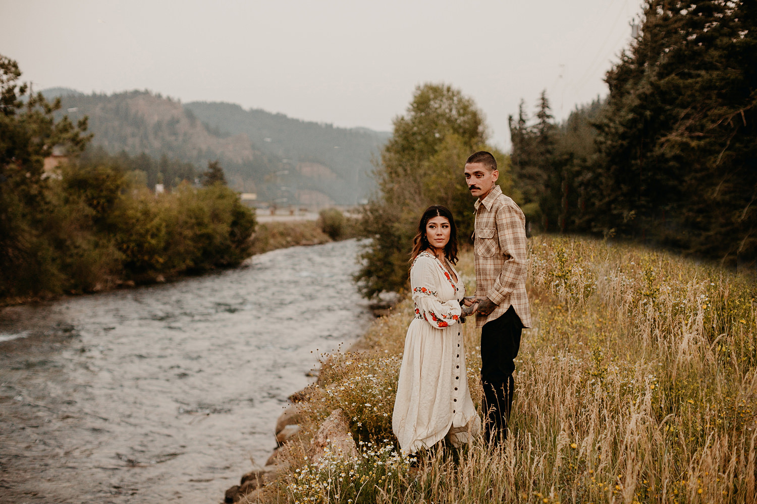 Bailey Colorado Denver Wedding Engagement Photographer Liz Osban Cheyenne Wyoming Mountain Elopement Boho bohemian vintage film tattoo non traditional tattooed rock and roll 48.jpg