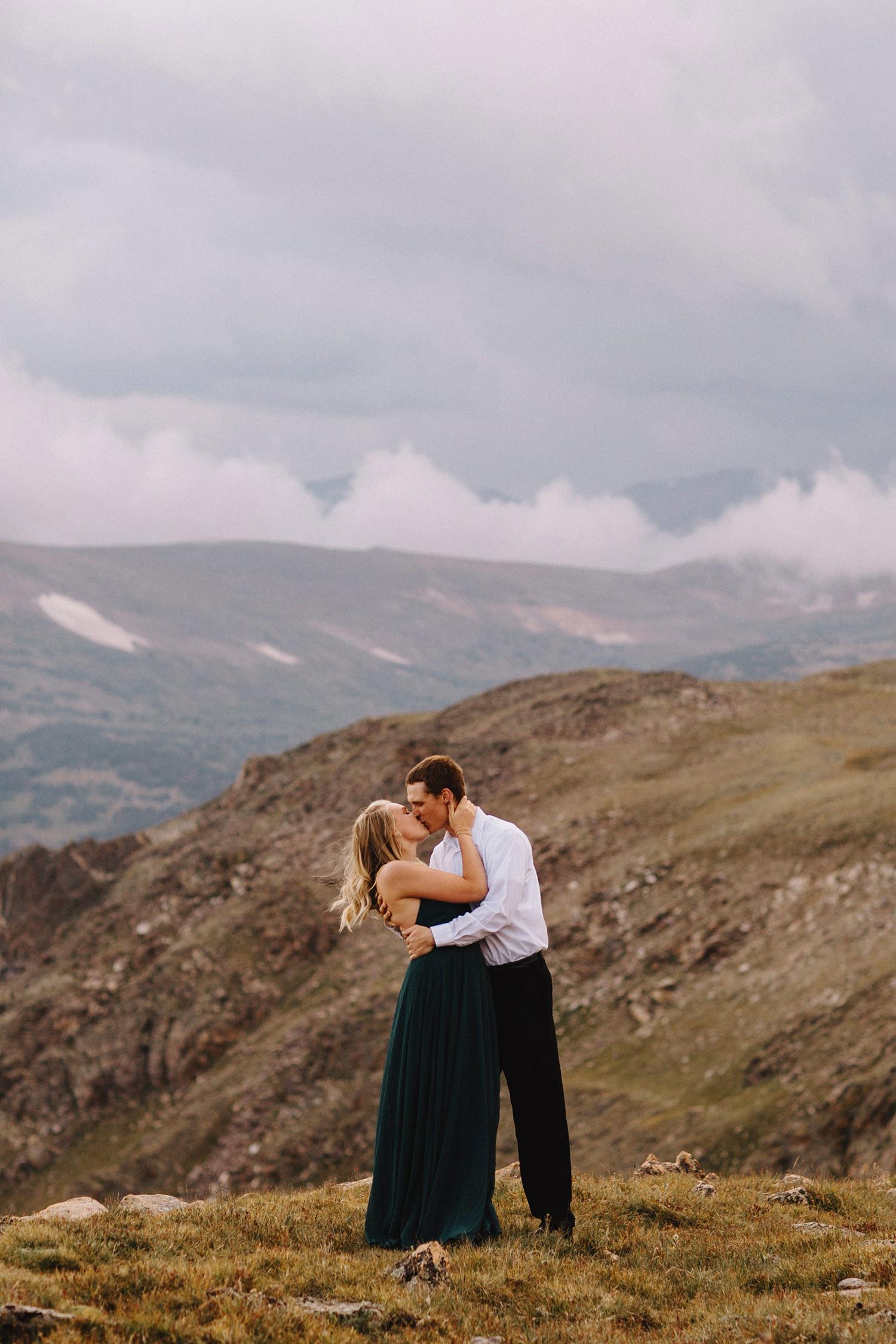 Rocky Mountain Engagement National Park Engaged Photos Wedding Elopement Portrait Mountains Trail Ridge Rd Peak Alpine Dress Lulus Rules Permit Photo Adventure Love Couples Destination Liz Osban photography Cheyenne Wyoming11.jpg