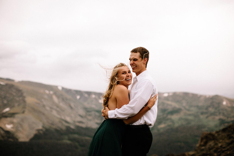 Rocky Mountain Engagement National Park Engaged Photos Wedding Elopement Portrait Mountains Trail Ridge Rd Peak Alpine Dress Lulus Rules Permit Photo Adventure Love Couples Destination Liz Osban photography Cheyenne Wyoming28.jpg