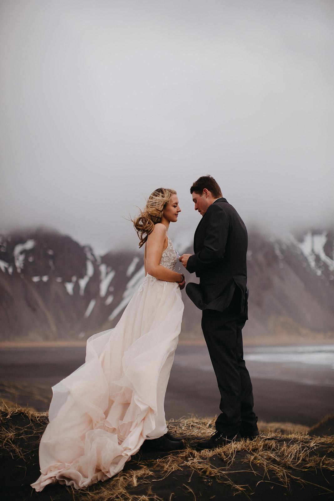Icelandic Iceland Elopement Wedding Elope Photographer Eloping Reykjavík Vik Black Sand Beach Jökulsárlón Skogafoss Waterfall Vestrahorn Mountain Liz Osban Photography Destination 22.jpg
