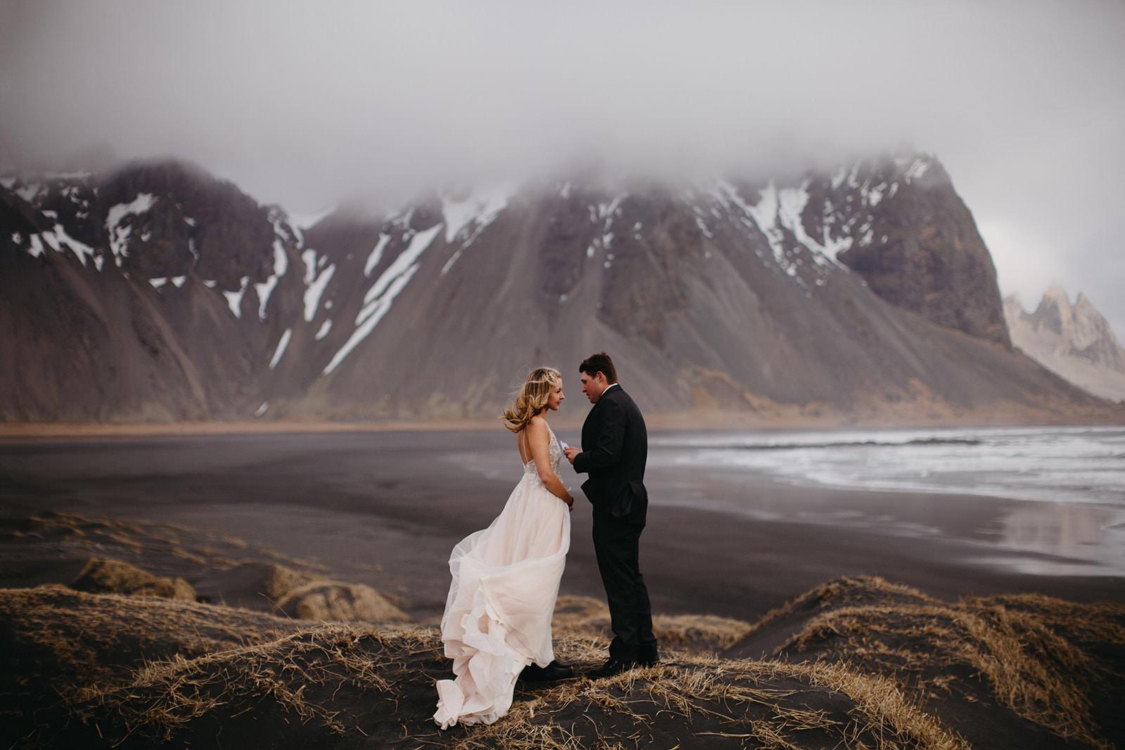 Icelandic Iceland Elopement Wedding Elope Photographer Eloping Reykjavík Vik Black Sand Beach Jökulsárlón Skogafoss Waterfall Vestrahorn Mountain Liz Osban Photography Destination 23.jpg