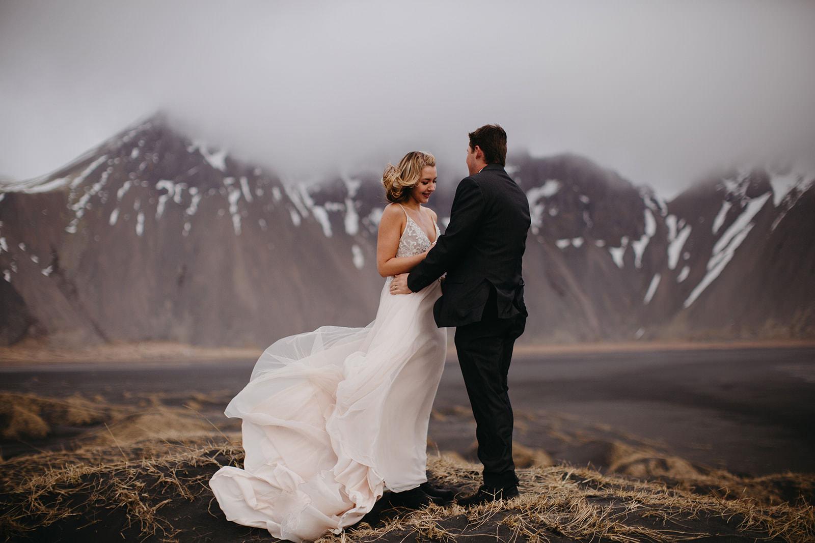 Icelandic Iceland Elopement Wedding Elope Photographer Eloping Reykjavík Vik Black Sand Beach Jökulsárlón Skogafoss Waterfall Vestrahorn Mountain Liz Osban Photography Destination 26.jpg
