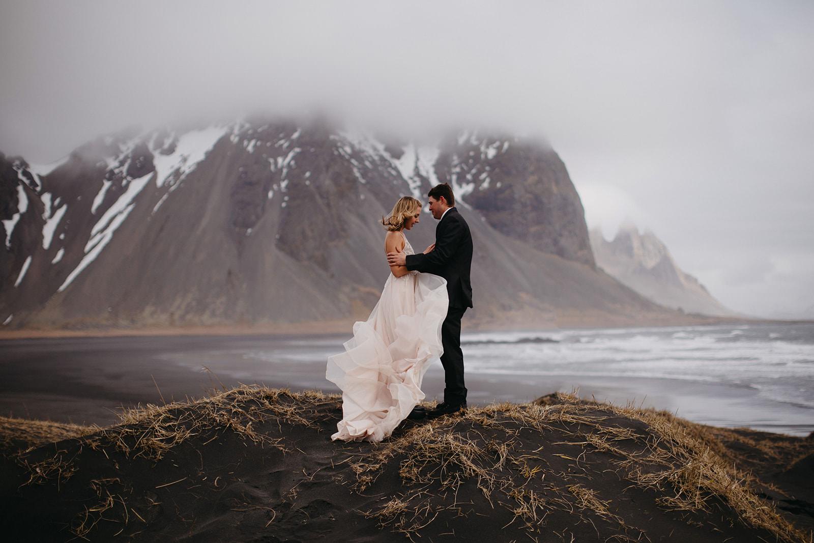 Icelandic Iceland Elopement Wedding Elope Photographer Eloping Reykjavík Vik Black Sand Beach Jökulsárlón Skogafoss Waterfall Vestrahorn Mountain Liz Osban Photography Destination 29.jpg