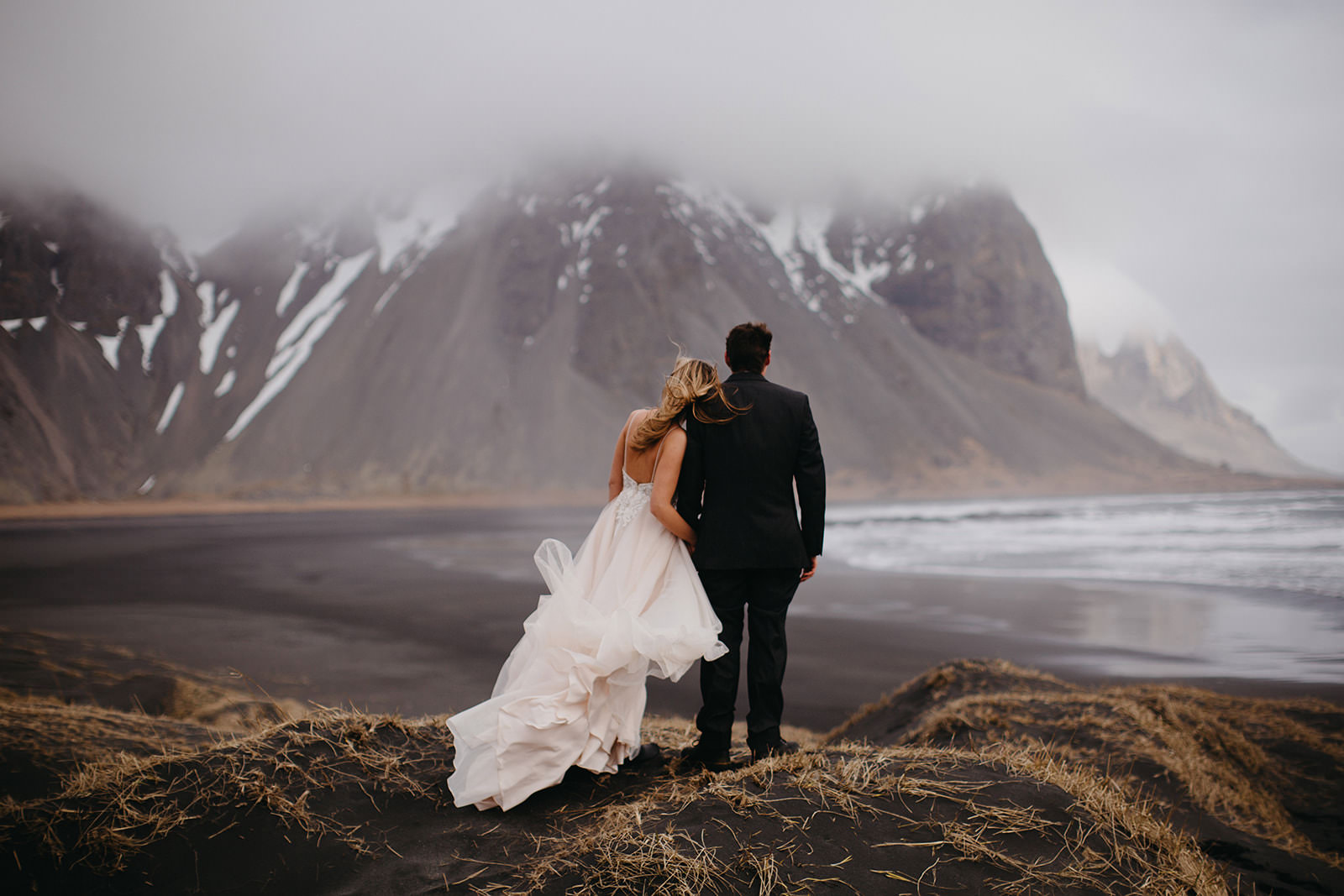 Icelandic Iceland Elopement Wedding Elope Photographer Eloping Reykjavík Vik Black Sand Beach Jökulsárlón Skogafoss Waterfall Vestrahorn Mountain Liz Osban Photography Destination 31.jpg
