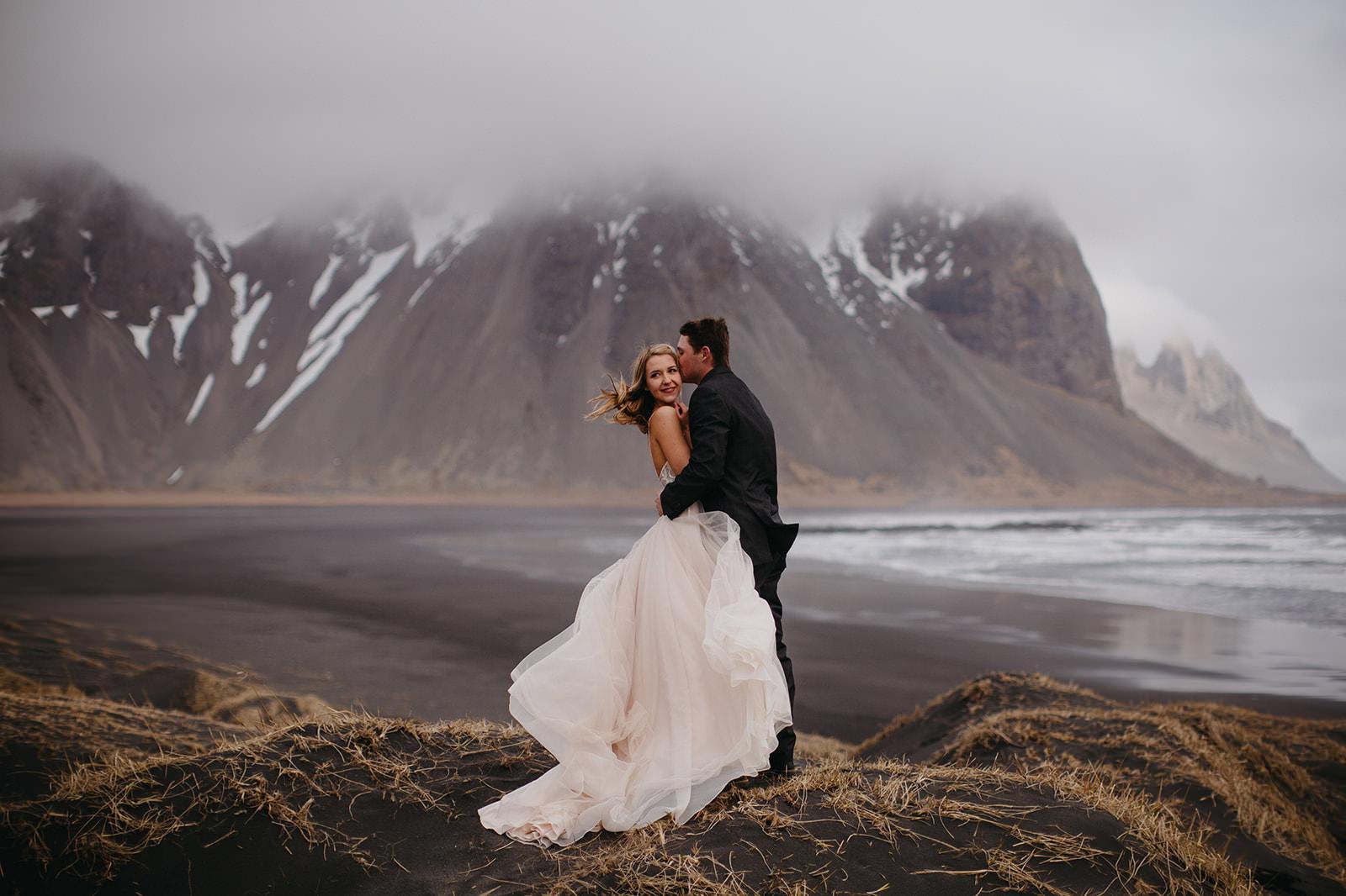 Icelandic Iceland Elopement Wedding Elope Photographer Eloping Reykjavík Vik Black Sand Beach Jökulsárlón Skogafoss Waterfall Vestrahorn Mountain Liz Osban Photography Destination 33.jpg