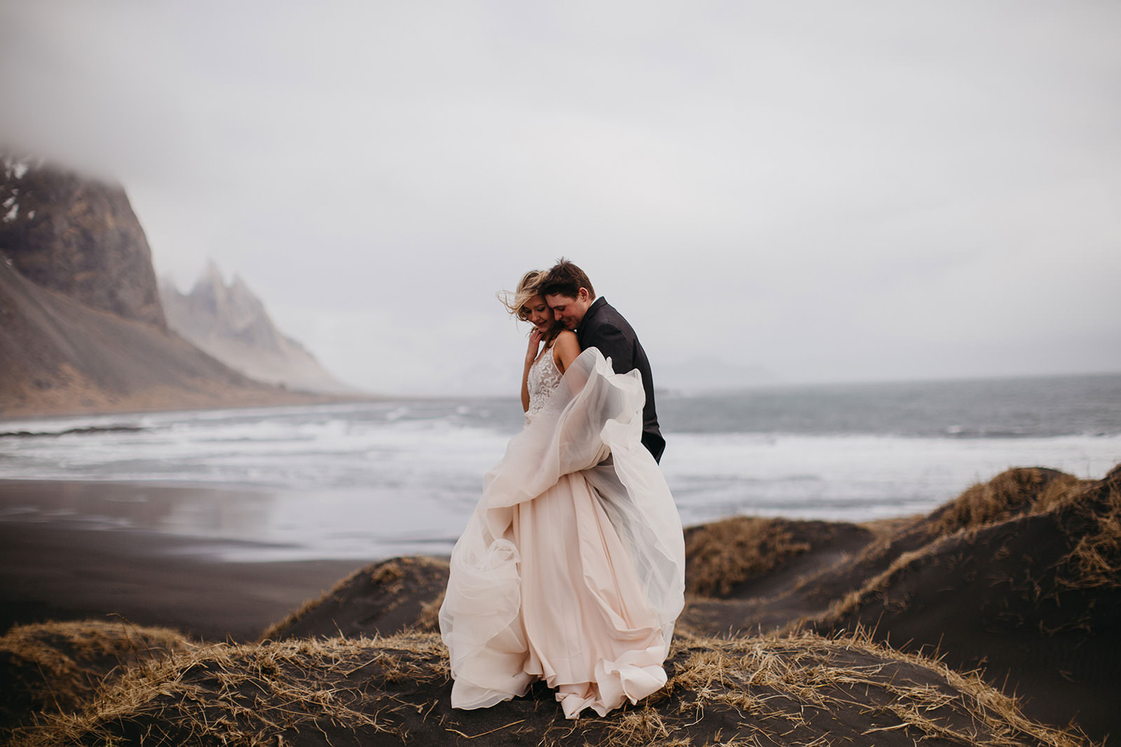 Icelandic Iceland Elopement Wedding Elope Photographer Eloping Reykjavík Vik Black Sand Beach Jökulsárlón Skogafoss Waterfall Vestrahorn Mountain Liz Osban Photography Destination 34.jpg
