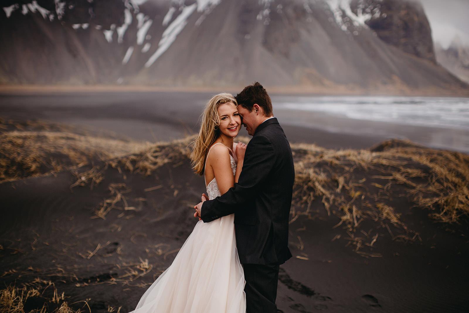 Icelandic Iceland Elopement Wedding Elope Photographer Eloping Reykjavík Vik Black Sand Beach Jökulsárlón Skogafoss Waterfall Vestrahorn Mountain Liz Osban Photography Destination 36.jpg